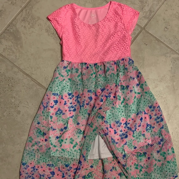 Other - Girls M 7/8 Pink and paisley blue dress